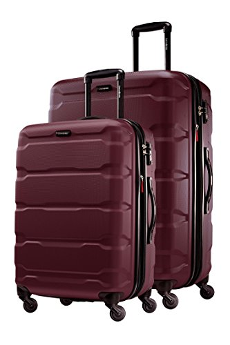 Samsonite Omni PC 2 Piece Set Spinner 24 and 28 With Travel Pillow (One Size, Purple)