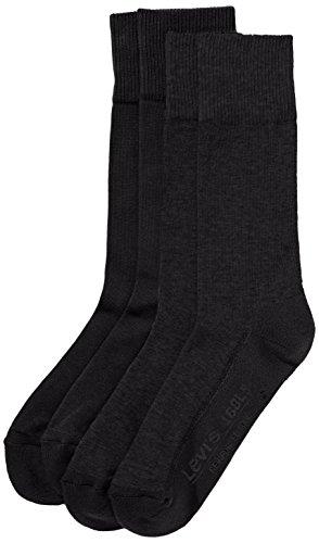 Levi's Herren LEVIS 168LS REGULAR CUT 2P Socken, Schwarz (Jet Black 884), 39/42 (Herstellergröße: 39-42)