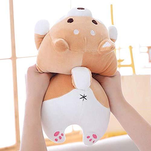 iBoosila Hund Plüsch Kissen, Shiba Inu Stofftier Plüschtier niedliche Corgi Akita Kuscheltiere Puppe Spielzeug Geschenke, Weihnachten, Sofa Stuhl (Braun)