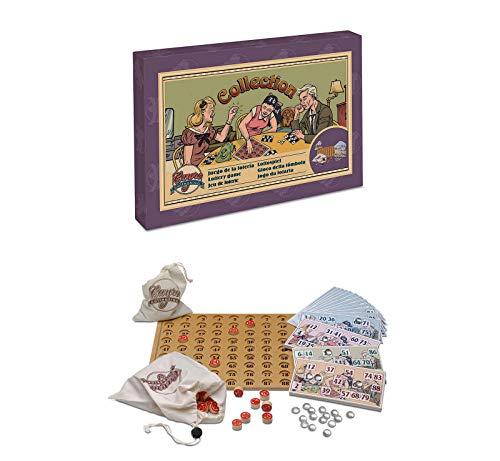 ONOGAL Juego de La Loteria Bingo de Coleccion Años 20 con Tablero Fichas Cartones 533c