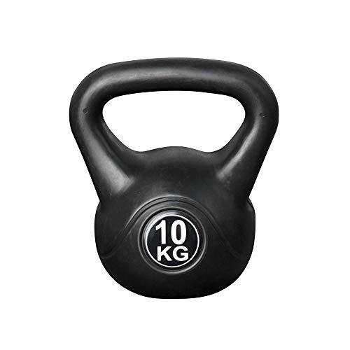 Vivol Kettlebell 10kg Vinyl - Kugelhantel Training Gewicht met Premium Kunststoffmantel und Zementfüllung - Für Gym, Crossfit und Fitness zu Hause