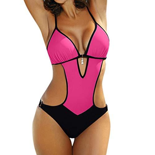 Mujer Monokini Nuevo Promociones Talla Grande Bikinis Halter Traje de Baño de Una Pieza Descuento
