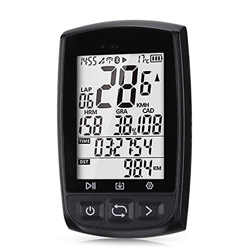 ゴルフ用カート Bluetooth 4.0ワイヤレスバイクコンピューターGPSアリ+防水サイクリング自転車スピードメーター 持ち運び 安定して耐久性