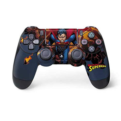 Skinit Decal Gaming Skin for PS4 Controller - Officially Licensed Warner Bros Superman on Fire Design