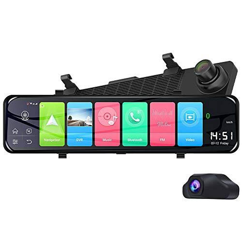 Blueskysea Z70 4G Android 8.1 Dash Cam 1080P Dual Len WiFi Dashcam 12 Pollici GPS ADAS Specchietto Retrovisore Auto DVR Guida Videocamera