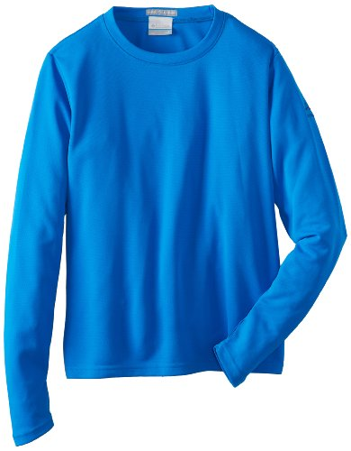 Columbia  - Top de Manga Larga de Running para niño, Color Azul, Talla M