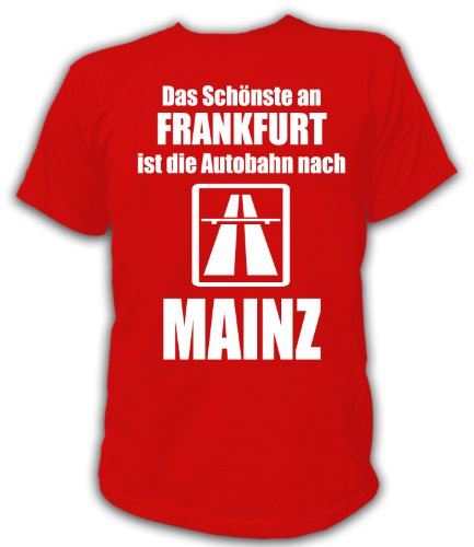 Artdiktat T-Shirt Anti Frankfurt T-Shirt Unisex, Größe XL, rot