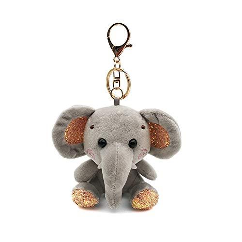 RIsxffp Mini Colgante Llavero Elefante Peluche Muñeca