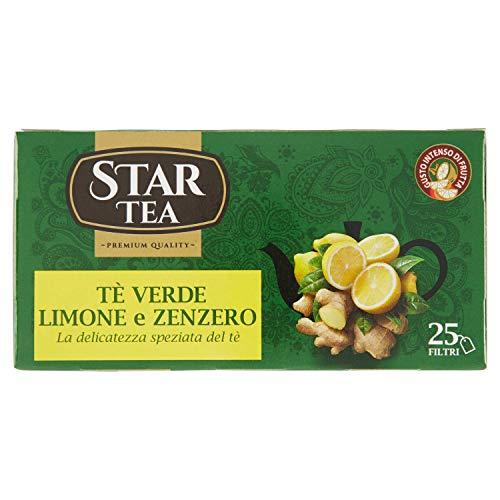 Star Tea Tisana, Tea Verde, Limone e Zenzero, 25 Filtri