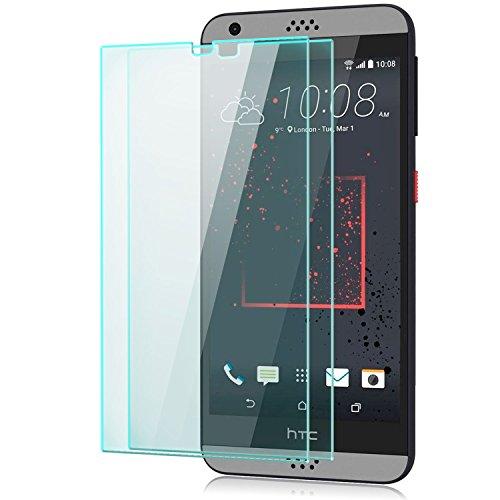 Saxonia 2 Stück Bildschirmschutz Folie kompatibel mit HTC Desire 530 Bildschirmschutzfolie aus gehärtetem Glas Schutzglas Glasfolie Schutzfolie | HD Klar Transparent