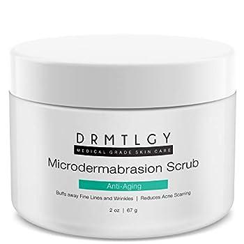 DRMTLGY Microdermabrasion Facial Scrub and Face Exfoliator Natural Non-Abrasive Face Exfoliator Improves Acne Scars Blackheads Pore Size and Skin Texture 2 oz