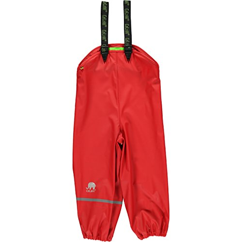CeLaVi Rainwear Pants-Solid Pantalon De Pluie, Rouge (Red), 70 cm Fille