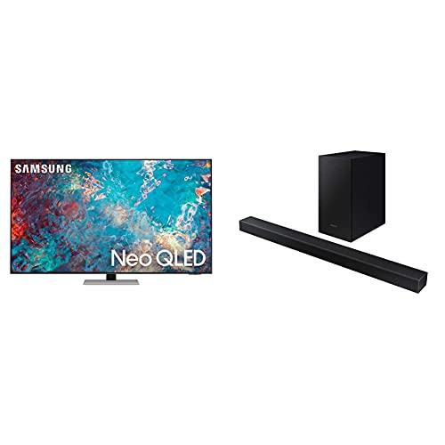 Samsung Neo QLED 4K 2021 55QN85A - 55  Smart TV + Soundbar HW-T420 ZF da 150W, 2.1 Canali, Nero