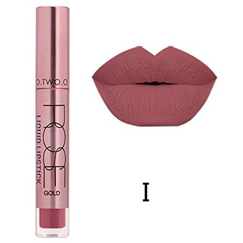Familizo Gloss Matte Lot, Lèvres Mates Douces Liquides Gloss Lipstick Cosmetics 12 Couleurs (I, Taille: 11 * 2 * 2 cm)