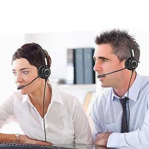 Call Center Headset, Telefoon Headset RJ9 met Noise Cancelling Mic Met Volume Aanpassing & Mute