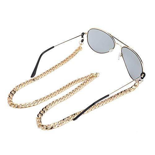 ?????????????????? ???????? 眼鏡メガネチェーンメガネストラップ、老眼鏡ストラップ合金メガネチェーン、男性女性用滑り止め