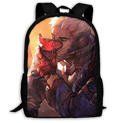IKUI Soldier 76 Adult Backpack, Laptop Backpack for Women Men,School College Backpack