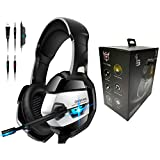 Lifestylegift ONIKUMA Gaming Headset with Microphone for PS4 Xbox One Headset with Noise Canceling Mic 7.1 Surround Bass Over Ear Gaming Headphones for Playstation 4 PC Mac Laptop Headset