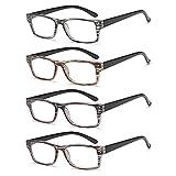VVDQELLA 2 Pack Gafas Presbicia Moda y Moderna Montura de Colores Filtro Luz Azul Contra UV Reading Glasses 2.5 para PC, Phone, TV, iPad, Ultra Ligeras y Sólidas para Mujere