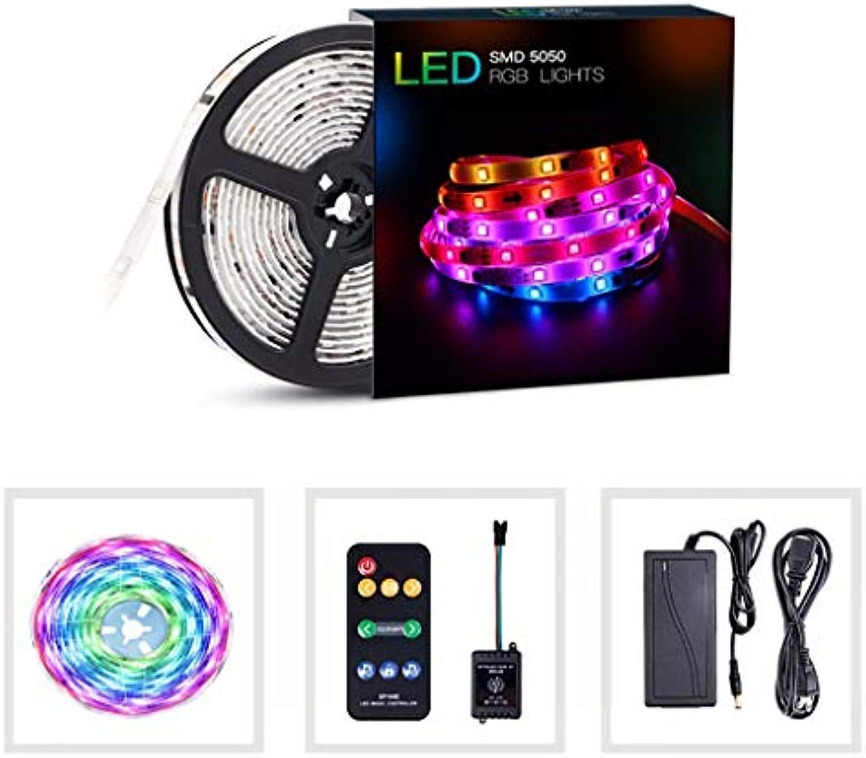 FAVOLkam LED Streifen LED-Licht mit dekorativem 5050rgb-Licht, 5M   10M Musik-Sound-Control-KonGrünierung, wasserdichter Lichtstreifen, Flexible RGB-Beleuchtung für Innen-   Outdoor-Küche
