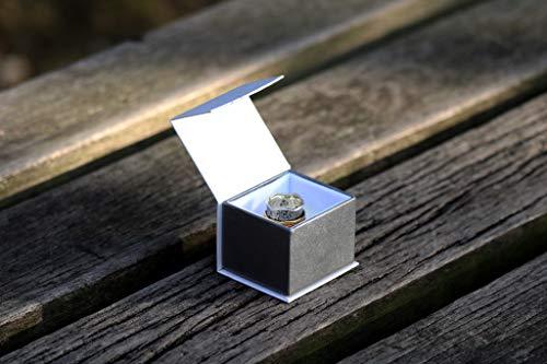 """Bague de Méditation Energy Stone """"Balance et Beauté"""" - Motif floral à 2 anneaux en bronze et laiton - 5"""