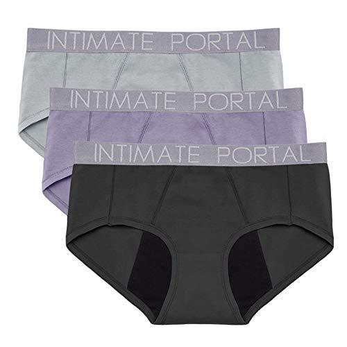 Intimate Portal Mujer Bragas Menstruales Absorbentes para Periodo Mentruación Regla Culottes...