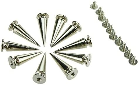 100 unisex Pcs of 26mm Silver Spots Craf Metal Leather Surprise price Cone Studs Screw
