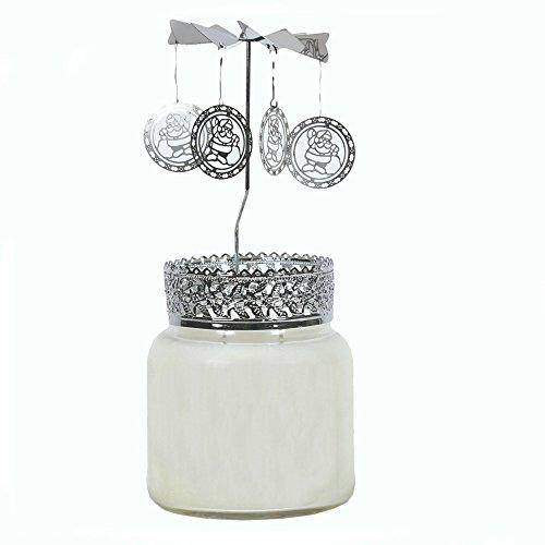 Père Noël Bougie Top Bocal rotatifs Décoration Compatible avec pot de 8 cm de diamètre