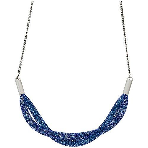 Swarovski Damen-Ankerkette Stardust Short Twist Halskette Kristall mehrfarbig 45 cm - 5199804