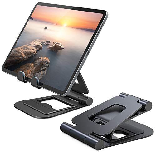 Nulaxy iPadスタンド タブレットpcスタンド スマホスタンド 折りたた式 アルミ製Nintendo Switchスタンド 4.7-13インチに対応 iPad Pro Air Mini iPhone Kindle Nexusに対応 A5 (ブラック)