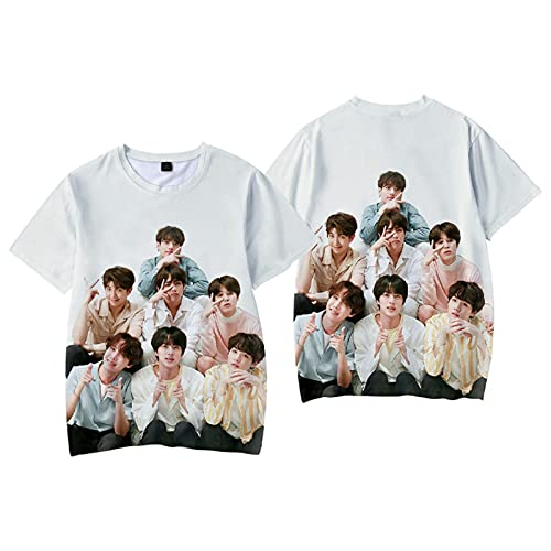 ALTcompluser Kpop BTS Camiseta unisex Jungkook Jimin Suga J-Hope V Jin RM Camiseta de...