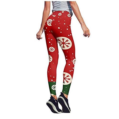 Laufhose Elegant Leggings Damen Festival Relaxed Hosen Yoga Pilates Trainingshose Tanzhose Weihnachtsmuster Drucken Fitness Sporthose Tights Hohe Taille Neun Hosen Jumpsuits