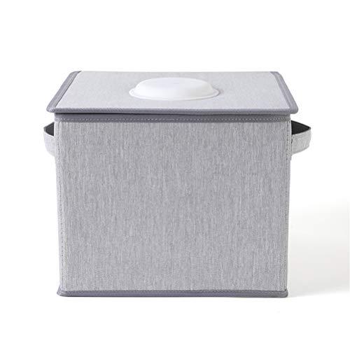 Draagbare opvouwbare U-V Sterilizer Box, Desinfectie-apparaat Cleaner Bag voor het voorkomen van ziekte-infectie, USB oplaadbare desinfectietas voor hoortoestellen/Stethoscopen (Grijs)
