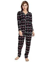 AV2 Women Cotton Printed Top & Pyjama Nightsuit Set