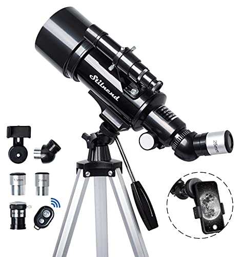 Telescope 70mm Aperture 500mm - for Kids & Adults Astronomical refracting Portable Telescopes AZ...