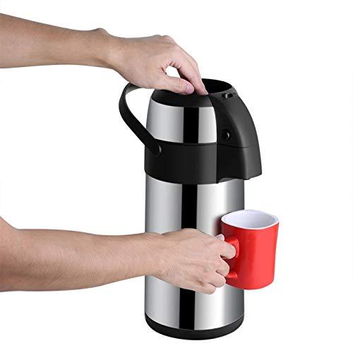 Airpot termo aislado al vacío de acero inoxidable, Airpot de café de 3L Dispensador de aire de acción de bomba para Airpot de agua fría caliente