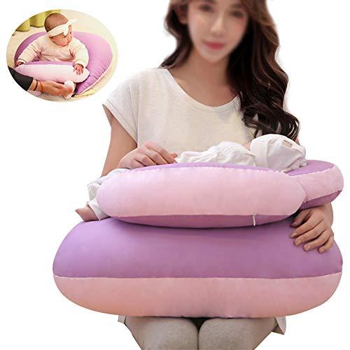 Mr.LQ Stillkissen für Babys 4 in 1 Stillkissen Ganzkörper-Stützkissen für Schwangere,Purple