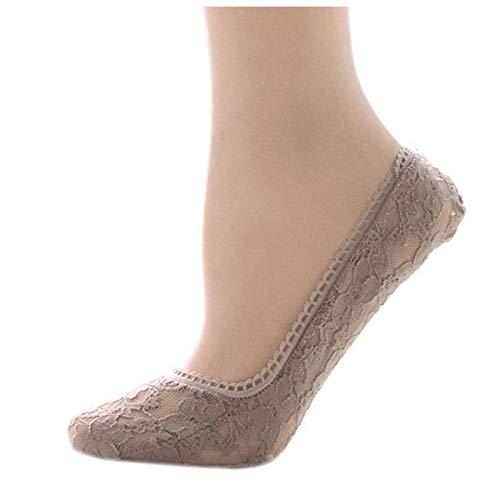 Simply Gorgeous Las señoras/las muchachas del algodón calcetines de encaje Bailarina Invisible Footsies UK 3-6