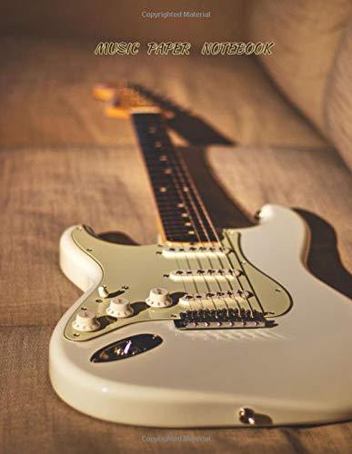 MUSIC PAPER NOTEBOOK: blank sheet music book / guitar tab sheet /sheet music paper 8.5 x 11 (Guitar cover Vo.1)