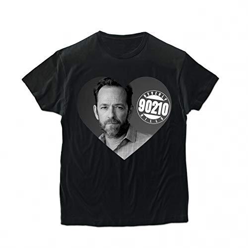 BroStore Memory of Luke Perry T-Shirt for Men Women Unisex Cotton Top Clothing Shirt Dylan McKay Beverly Hills (Black, Men - 2XL)