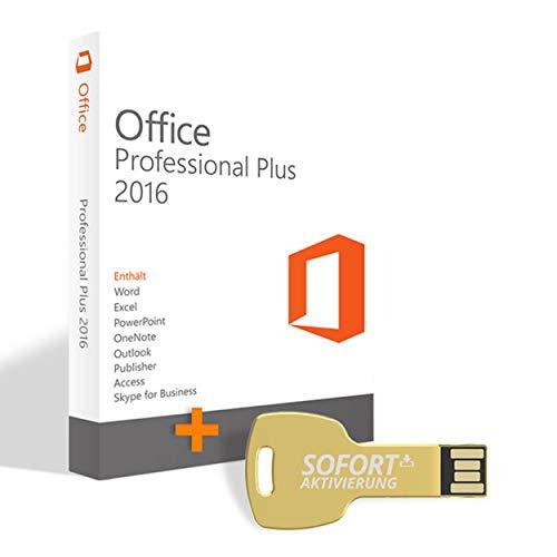 Office 2016 Professional Plus EU Lizenz auditsicher für MS Office 16 Vollversion mit Word, Powerpoint, Excel, Outlook etc. auf USB Stick mit offizieller Lizenzübertragung SOFORT-AKTIVIERUNG®