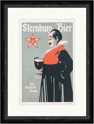 Kunstdruck Sternburg Bier Bergmüller 1900 Brauerei Leipzig Faks_Plakatwelt 192