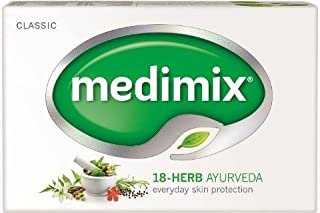 Medimix Handmade Herbal Handmade Ayurvedic Classic 18 Herb Soap for Healthy and Clear Skin Pack of 12 (12 x 125 g)