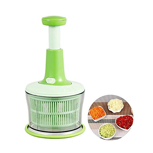 Yyqt Fleischwolf, Haushalt Food Processing Maschine Portable Knoblauchpresse Chopper Handbuch Fleischwolf Mixer Edelstahl-Blatt