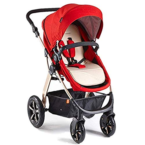 Lowest Price! Qivor Baby Carriage Baby Stroller Reversible High Landscape with Bassinet Compact Push...