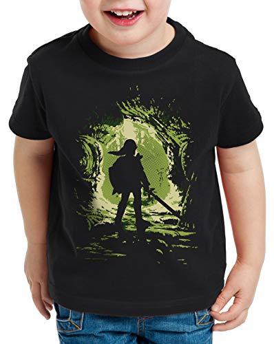 style3 Link Explorer T-Shirt für Kinder Hyrule Gamer Switch, Größe:140