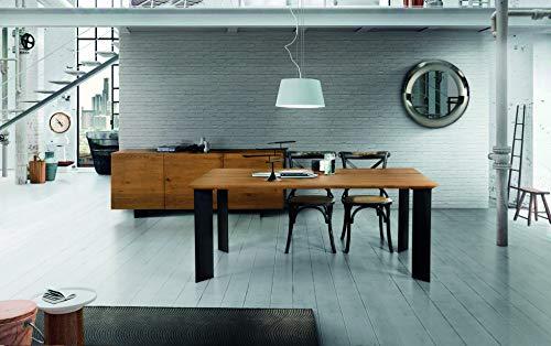 Fashion Commerce Tavolo FC1672, Legno massello, Rovere Grano, 250x100 cm