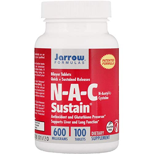 Jarrow NAC Sustain (600mg, 100 Bilayer Tablets)