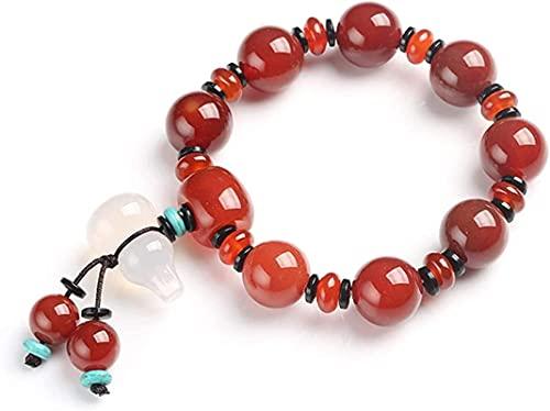 Pulsera Feng Shui Bead Pulsera de la fortuna Seda natural Águila roja pequeña calabaza Accesorios colgantes de la joyería de los hombres para hombres regalos de la sorpresa del día de San Valentín Pul