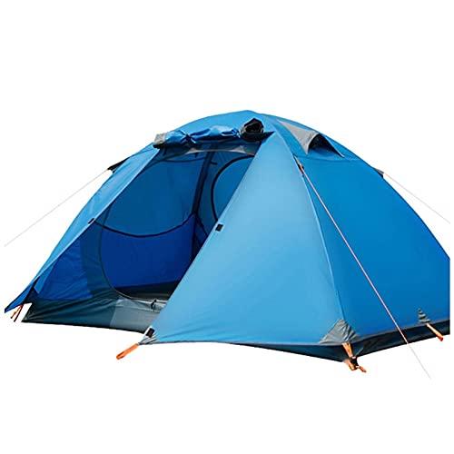 Chunshop Las Mejores Carpas para reuniones al Aire Libre Tienda Doble al Aire Libre Gruesa Impermeable Tienda al Aire Libre Camping campaña de Picnic Las Mejores Tiendas de campaña (Color : Blue)
